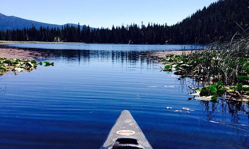 Beautiful day canoeing Hosmer Lake 7/23/15