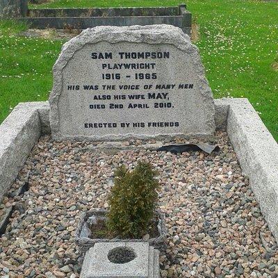 "Sam Thompson who penned ""Over The Bridge"""