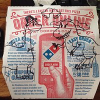 Ordered on my phone and got the cutest picture!! Love this dominos!