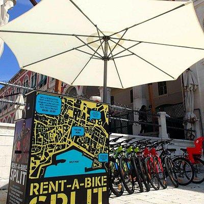 Rent a Bike Split spot Prokurative Trg Franje Tudjmana 4