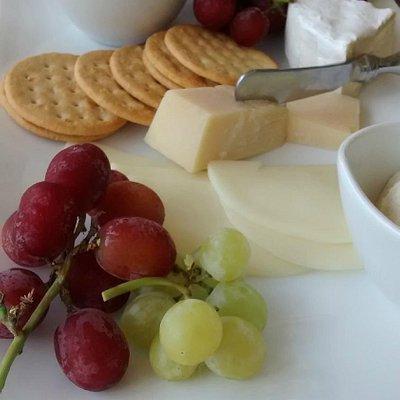cheese platter at Chrisman Mill Vineyard