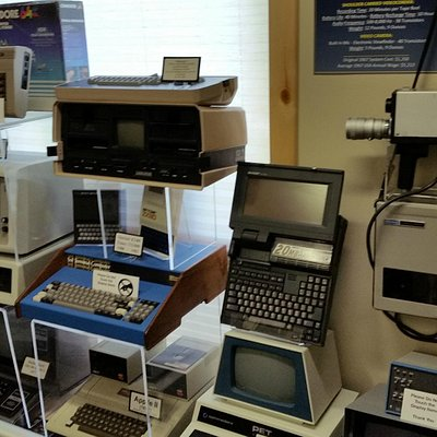 Some of the early personal computers on display.