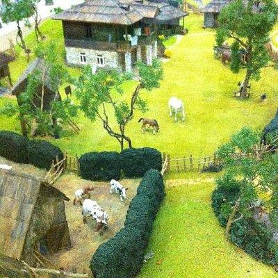 Панорама с мини-моделями