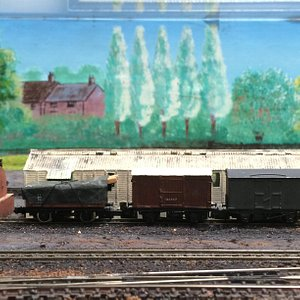 Model railway showing what Lutterworth railway station used to look like.