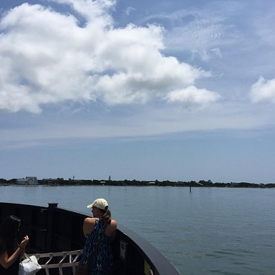 The ferry from Ocracoke to Hatteras is free  and fast. We loved taking it!