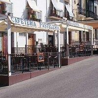 Cafe La Crème just up from Main Square in Alhama de Granada