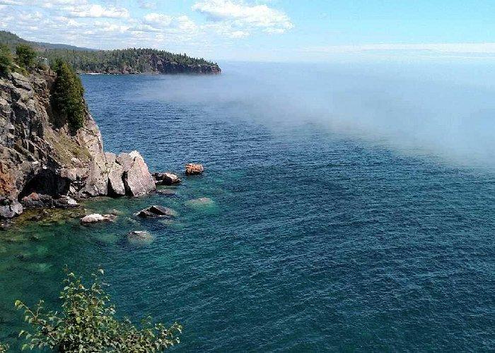 Shoreline below Split Rock