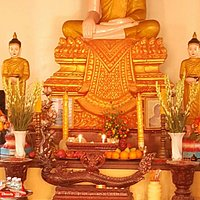 Buddha inside of pagoda