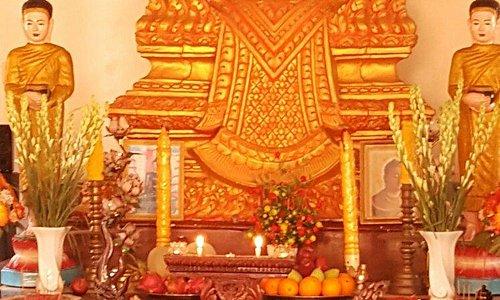Buddha inside of pagoda