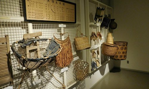 Hand-made baskets used in the region