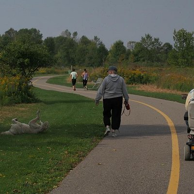 This portion along the lakeshore is well paved and accessible.
