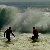 Splash in the surf