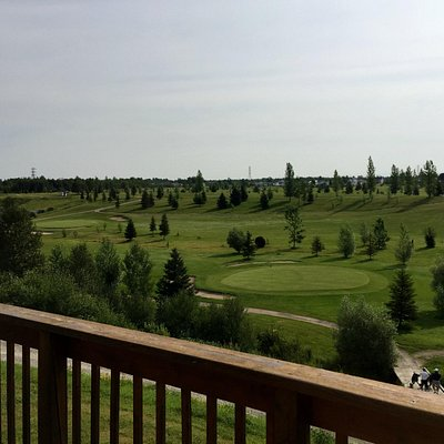 Club House Balcony View of Smooth Rock Falls Golf Course