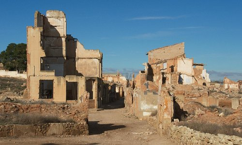 Belchite: old town in ruins