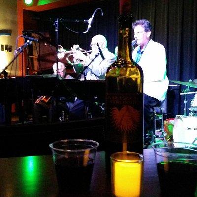 Enjoying some wine and live jazz!