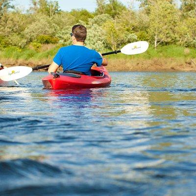 Kayaking on Lake Quigg