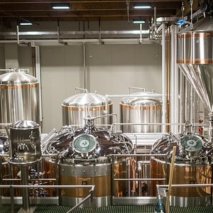 The brewhouse.