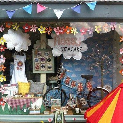 Flossy Teacake Window Display June 2015
