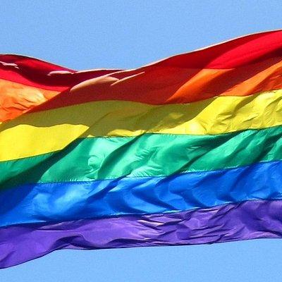 Rainbow Flag Pole Landmark