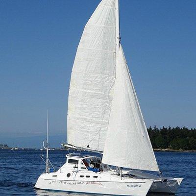Shadowfax Catamaran 32 ft long, 18 ft wide