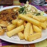 Mushroom omelette & chips ......only €5