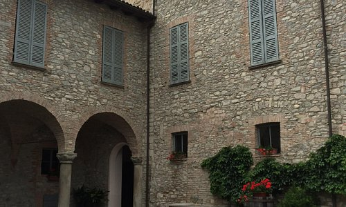 Courtyard of the palazzo and cellars.
