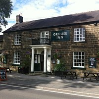 The front of The Grouse Inn, with our beautiful hanging baskets.