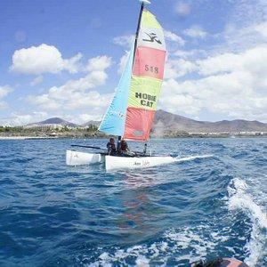 sailing hobie-cat Playa Blanca