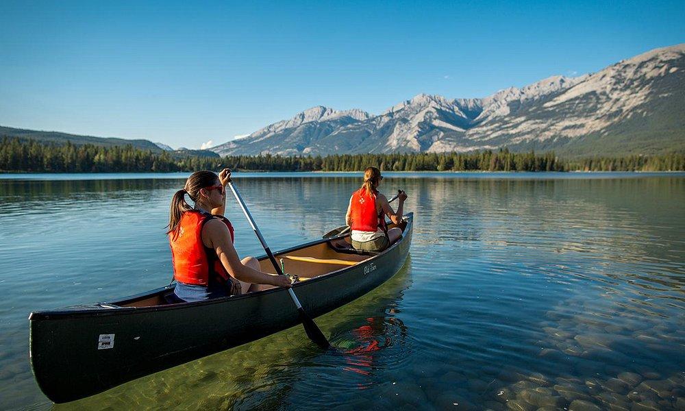 Canoeing in Jasper National Park