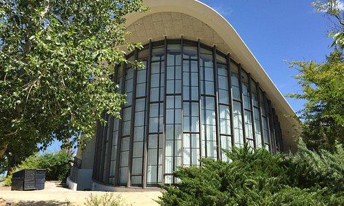backside glass structure of planetarium