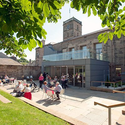 Enjoy the outside terrace area at Linlithgow Burgh Halls Café.