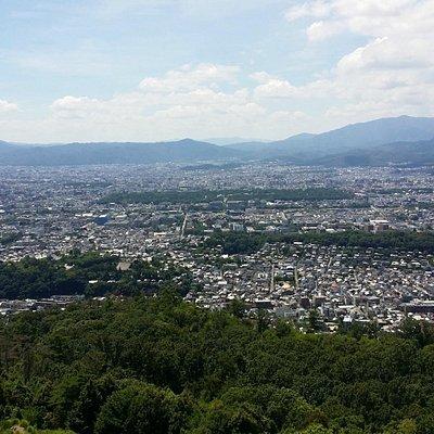 大文字火床から京都市内を撮ってみました!