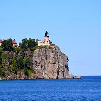Split Rock Lighthouse from the beach