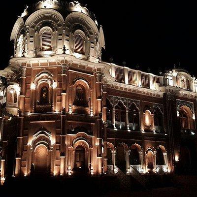 Darbar Mahal at night