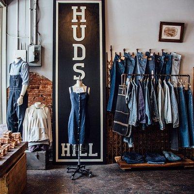 Hudson's Hill handmade wooden sign