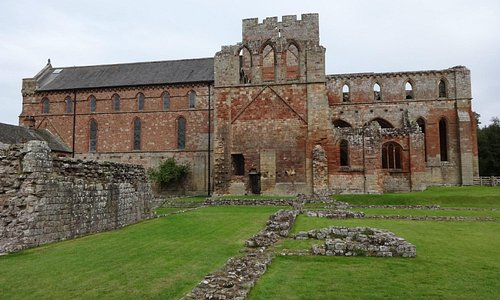 Church on left