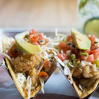 """The """"Two Groupies"""" - Fried Grouper Fish Tacos"""