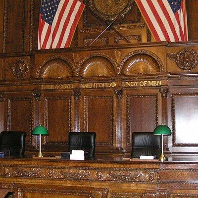 Appeals court room detail