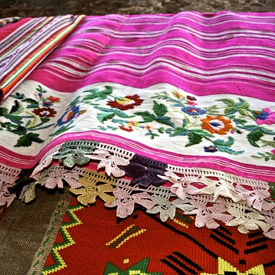 textiles  woven on a loom.