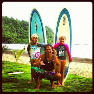 after a great surf lesson