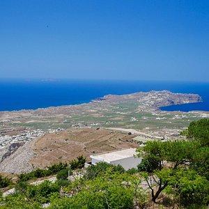 Vista de Akrotiri, a partir do Monte Profeta Elias.