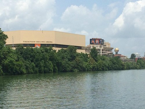 Thompson–Boling Arena seen from Star of Knoxville Riverboat