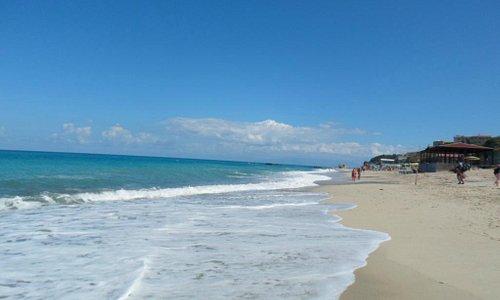 mirando la playa