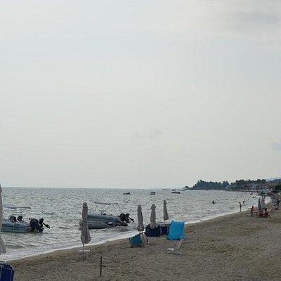 Polichrono Beach: Rainy Day July 2015 A