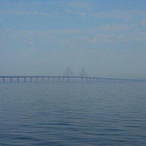 Sibbarp海岸から見たオーレスン橋