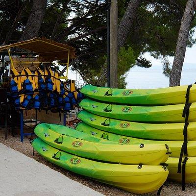 Stand von Kayak Brela
