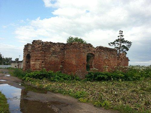 Развалины Петропавловской церкви в Клопицах