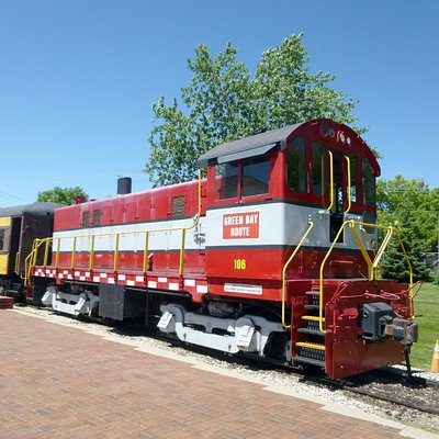Green Bay & Western #106 Leads The Train Ride Around The Museum