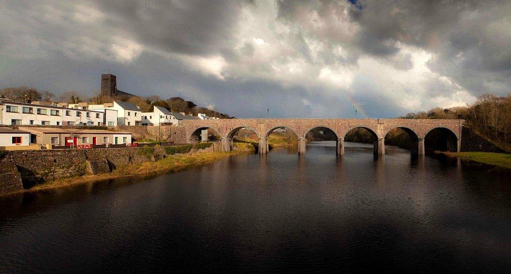 Newport viaduct taken from Newport Bridge