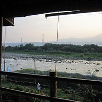 座敷からは利根川と榛名山が見えます